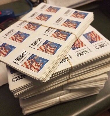 100 USPS FOREVER POSTAGE STAMPS ..(10 SHEETS OF 10) .... RETAIL VALUE ($49.00)