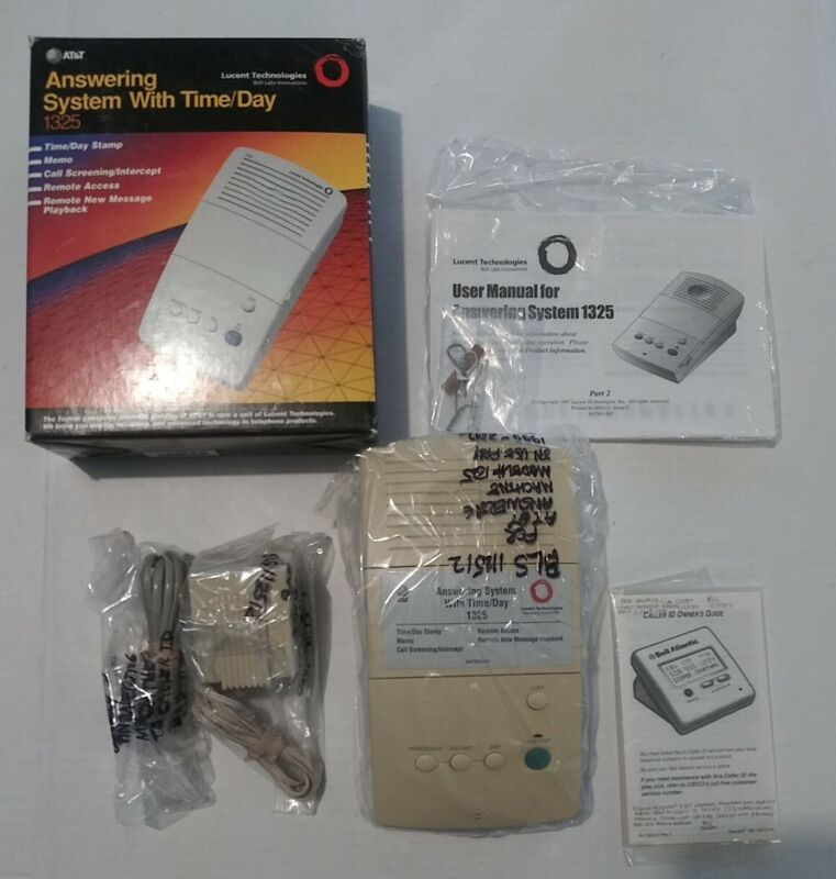 In Box Genuine AT&T ATT Answering System Machine 1325 Vintage Remote Message