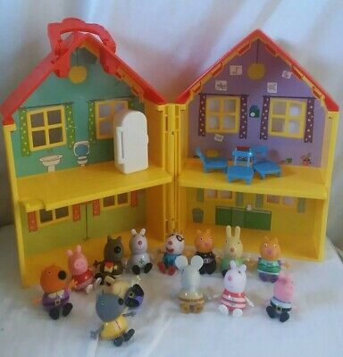 Lot Peppa Pig Halloween Dress Up Figures Plus house and furniture