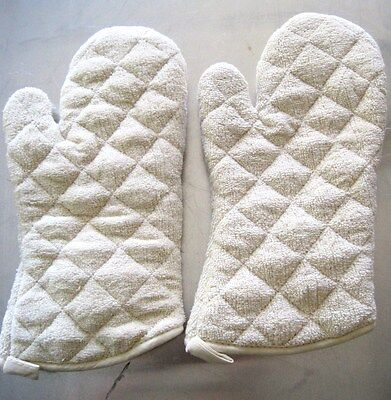 2 Pack Oven Mitts Gloves 15 Terry Cloth Commercial Restaurant 450f Tec15