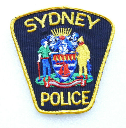 Obsolete Police Patch - SYDNEY Nova Scotia Canada - Near PERFECT