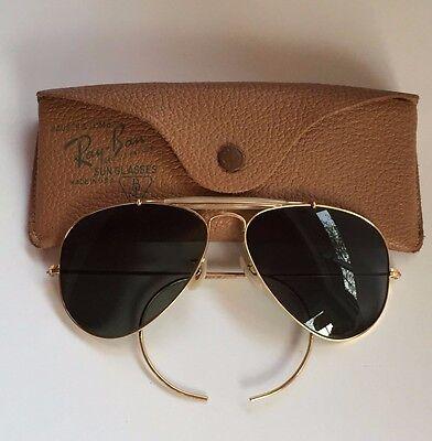 f1e0a941b2 Vintage Ray Ban Sunglasses B L 1 10 12K GF Gold Outdoorsman Aviator General