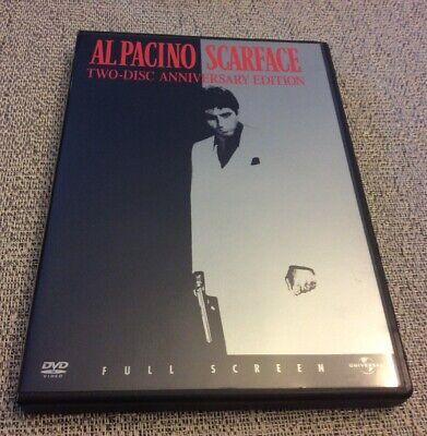 Scarface (DVD, 2003, Full Frame Anniversary Edition) Al Pacino Brian De Palma
