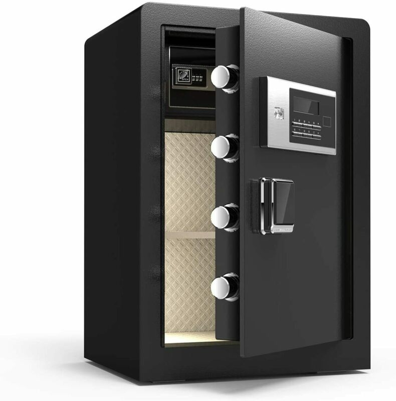 2.3 Cubic Feet Digital Lock Keypad Safe Steel Box Security w/ Interior Lock