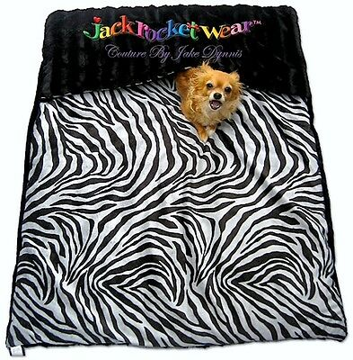 NEW Luxury LARGE DOG BeD CARRY MAT Jackrocketwear Silver Zebra TRAVL PET BED