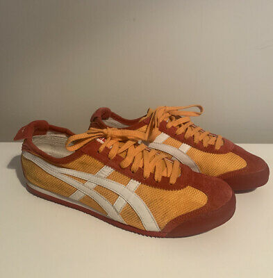 Asics Onitsuka Tiger Mexico 66 Orange Red Suede UK 9 US 10 EU 44 Retro