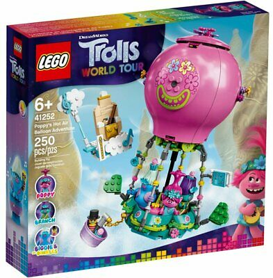 LEGO Trolls World Tour 41252 Poppy''s Hot Air Ballon Adventure 2020 FREE SHIPPING