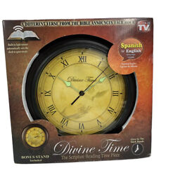 Divine Time Scripture Wall Clock - As Seen On TV Bible Verse Reading Time Piece