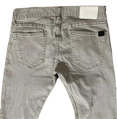 Quicksilver Size 31 x 32 Men's Skinny Fit Jeans Light Gray Straight Leg Low Rise