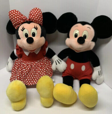 Disneyland Vintage Walt Disney World Mickey & Minnie Mouse Plush Set