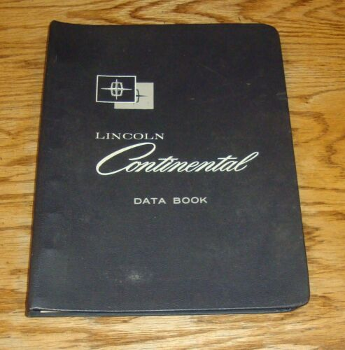 Original 1965 Lincoln Continental Data Book Dealer Album 65