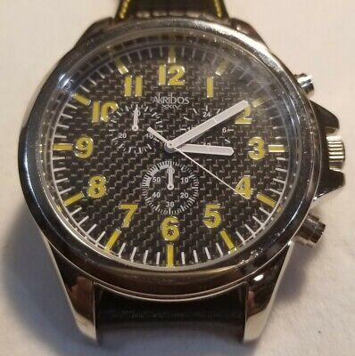 Huge Akribos xxiv Chronograph Wristwatch