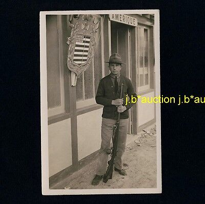 Kanada POLIZIST RANGER ZOLL POLICEMAN CUSTOM RIFLE Canada * Foto-AK um 1940 RPPC