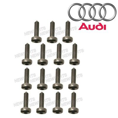 For Audi RS5 S4 S5 S6 S7 Set of 15 Auto Trans Oil Pan Bolt Genuine N-910-968-01