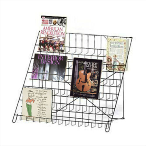 6 TIER BOOK, DVD, LITERATURE WIRE COUNTER TOP DISPLAY SHELF RACK - CTSHF6