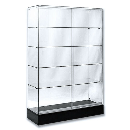 "Frameless Tempered Glass Tower Trophy Case 72"" H x 48"" W - New York PICKUP ONLY"