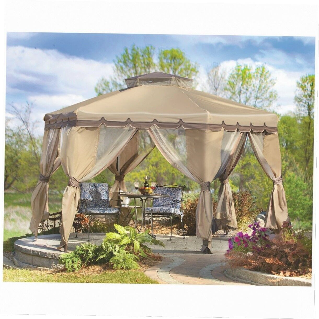Gazebo Canopy Tent Outdoor Cover Pop Up Shelter Yard Bug Net