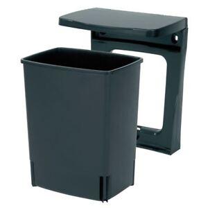Brabantia Built-in Waste Bin, Cupboard/Wall Mounted 10 litre Rectangular - Black
