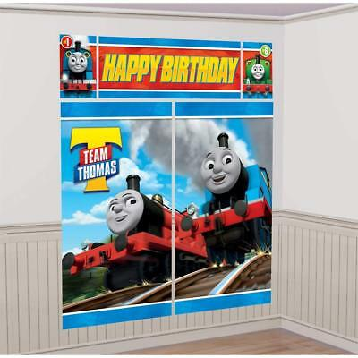 Thomas & Friends Scene Wall Banner Decorating Kit Birthday Party Supply - Thomas Birthday Banner