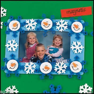 Snowman Magnet Photo Frame Christmas Craft Kit ABCraft
