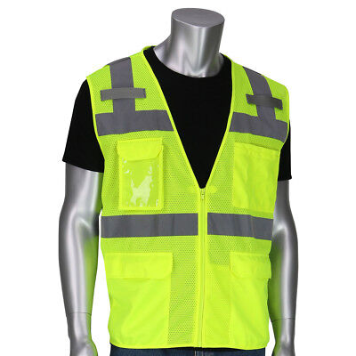 Pip Class 2 Mesh Surveyor Safety Vest With Pockets Yellowlime