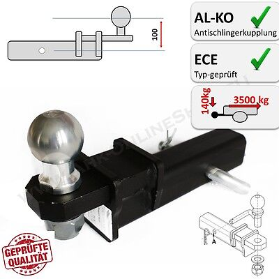 AHK Us-Adapter 50x50mm Enganche de Remolque También para Al-Ko