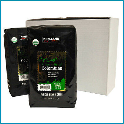 [NO TAX] Kirkland Signature Organic Colombian Decaf As a rule Bean Coffee, 2 X 2 lbs
