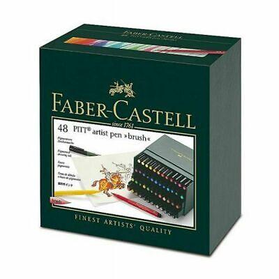 Faber-Castell Pitt Artist Pen Brush India ink Pen Studio Box of 48 - 167148