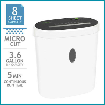 Goecolife Limited Edition 8-sheet Micro-cut Shredder Shred Credit Cards Black