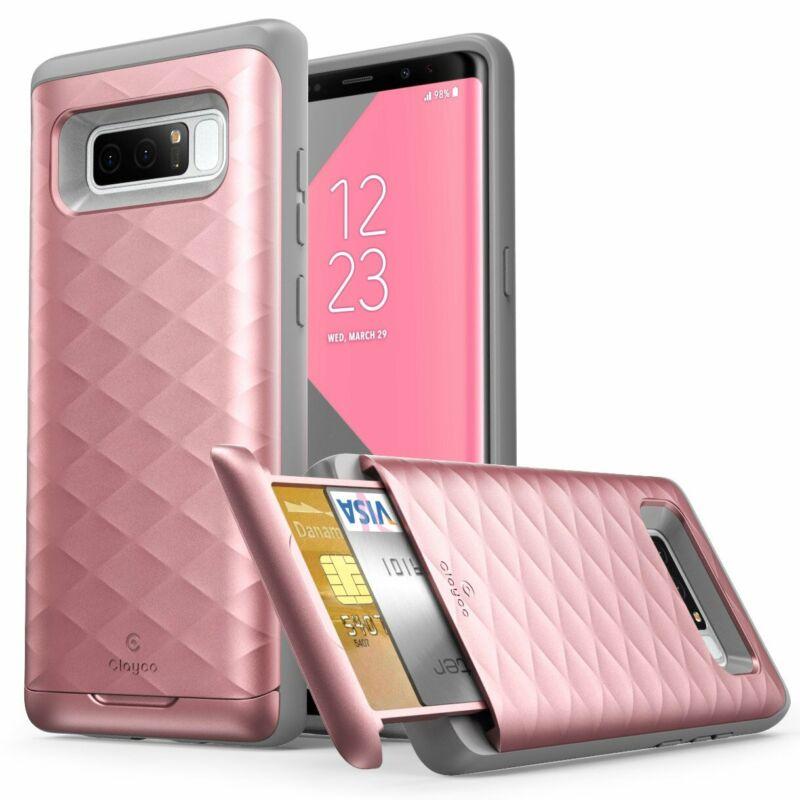 Galaxy Note 8 Case, Clayco  Premium Hybrid Protective Wallet