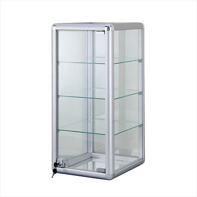 12 Aluminum Frame Counter Top Glass 3-shelf Display Case - F-1302