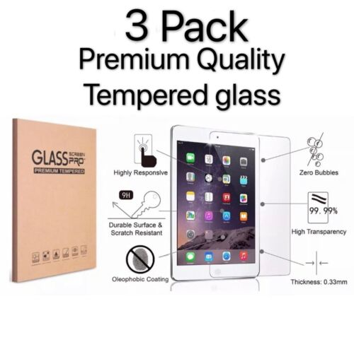 """3Pack Tempered Glass Screen Protector for Apple iPad Air 3rd Gen 10.5"""" (2019)"""