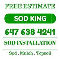 Sod installation 647-638-4241