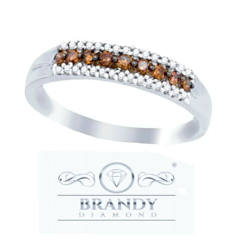 Brandy Diamond® Chocolate Brown 10K Gold Beautiful Stylish Eternity Band Ring