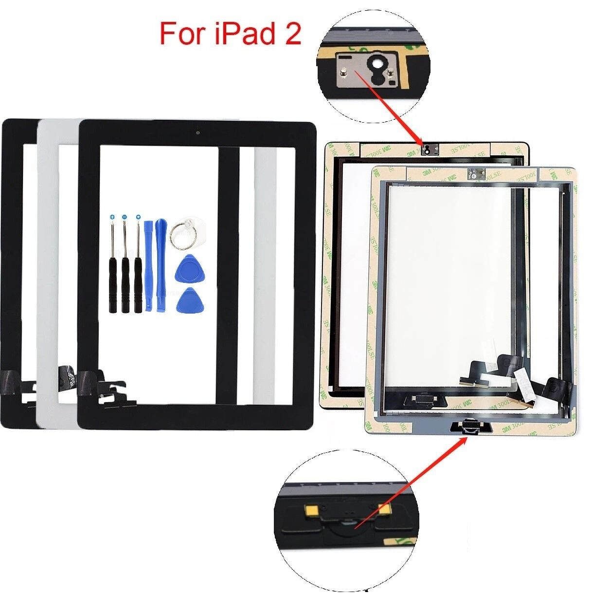 Screen Glass Digitizer replacement for iPad 2 A1395 A1397 A1396 with tools Computers/Tablets & Networking