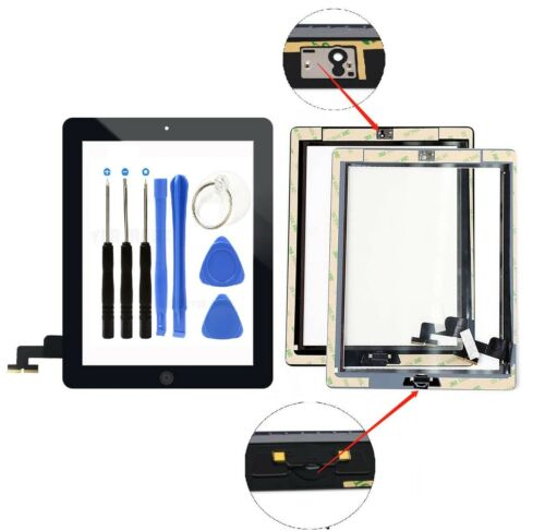 Black Screen Glass Digitizer replacement for iPad 2 A1395 A1397 A1396 + Tools Computers/Tablets & Networking