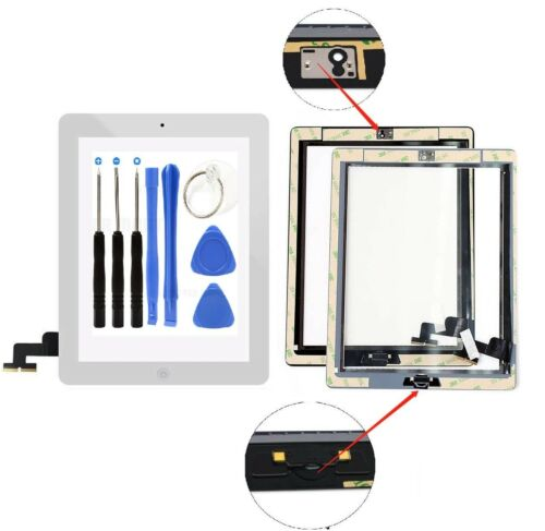 White Screen Glass Digitizer replacement for iPad 2 A1395 A1397 A1396 with tools Computers/Tablets & Networking