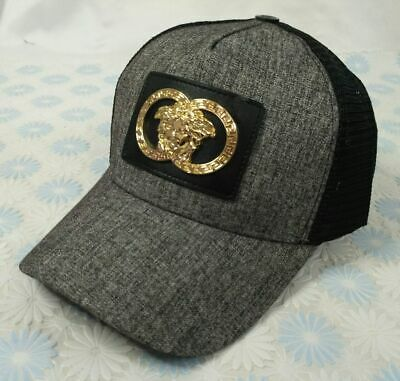 NWT Gray Unisex Versace Hat Adjustable Casual Baseball Cap