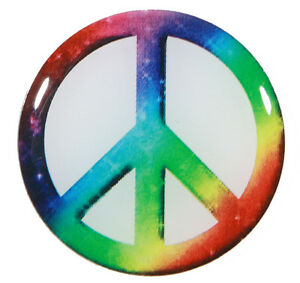Tie-Dye-Peace-Sign-Metal-Golf-Ball-Marker-Package-of-2
