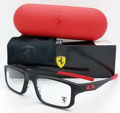 NEW Oakley Ferrari Voltage RX Prescription Frame Black Red OX8049-0753 53mm NIB