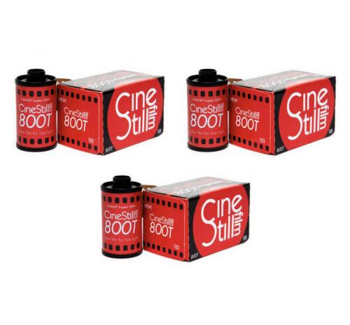 3x Cinestill 800T Tungsten 35mm - 3 Rolls of 36 Exposures - Expiration: 02/2023