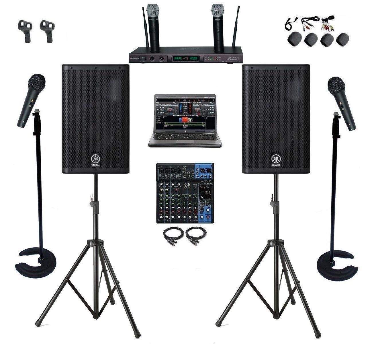 Professional Dj Karaoke System 1tb Laptop Yamaha Mixer