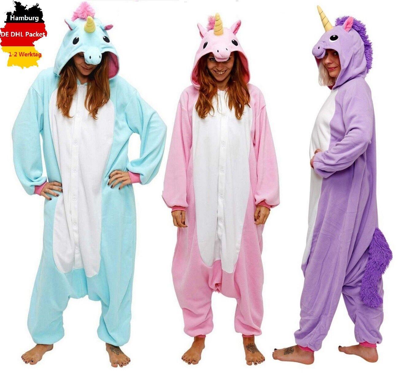 Tier Karton Kostüm Einhorn PyjamaTierkostüme Jumpsuit Erwachsene Schlafanzug