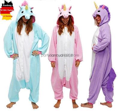 Einhorn Onesie Jumpsuits Pyjama  Kigurumi Fastnacht Kostüme Overall Hausanzug online kaufen