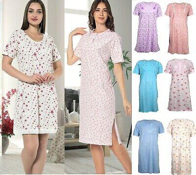 Ladies Womens Nightdress Night Shirt Nighties Nightshirt slogan Pyjamas COTTON