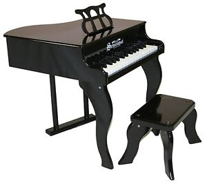 NEW Schoenhut 30 Key Fancy Baby Grand Piano -Black Toy Instrument for Kids