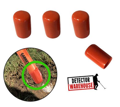 4 ORANGE Pinpointer Cap Tip Protector - Fits Garrett Propointer AT, II