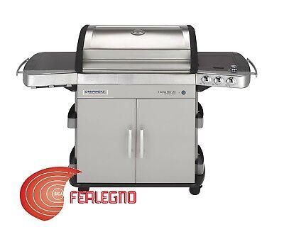 BARBECUE BBQ A GAS 3 FUOCHI + FORNELLO GIARDINO MOD. 4SERIES RBS...