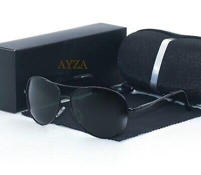 AYZA Herren Sonnenbrille Polarisiert Metal 100% UV 400 Pilotenbrille