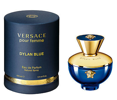 VERSACE DYLAN BLUE pour femme eau de parfum 100 ml 3.4 oz new in box sealed